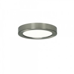 "Blink 13.5W 7"" Round LED Flush Mount, 3000K, 820 Lumens, Bronze"