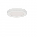 "Blink 13.5W 7"" Round LED Flush Mount, 3000K, 90 CRI, White"