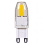 4W JCD LED Light Bulb w/ G9 Base, Dimmable, Clear, 3000K