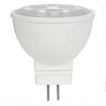 1.6W LED MR11 Bulb, Dimmable, GU4 Base, 5000K