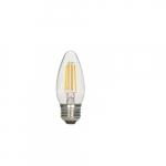 2.5W LED C11 Candelabra Bulb, 2700K, Clear, 464 Lumens