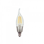 4.5W LED CA11 Candelabra Bulb, E12 Base, 2700K, Clear