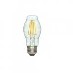 4.5W LED Antique Filament Bulb. 2700K, Clear
