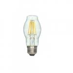 6.5W LED Antique Filament Bulb. 2700K, Clear
