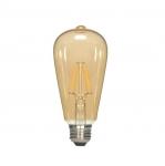 2.5W LED ST19 Edison Bulb, 2300K, Antique Amber