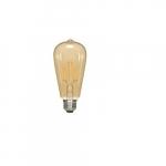 6.5W LED ST19 Edison Bulb, 2300K, Antique Amber