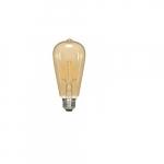 4.5W LED ST19 Edison Bulb, 2200K, Antique Amber