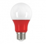 2W Muli-Directional LED A19 Colored Bulbs, Red