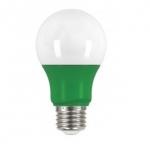 2W Muli-Directional LED A19 Colored Bulbs, Green