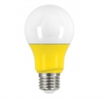 2W Muli-Directional LED A19 Colored Bulbs, Yellow