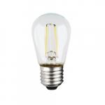 1W LED S14 Bulb, E26 Base, 100 lm, 2700K, Clear