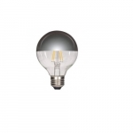 4.5W LED G25 Decorative Bulb, 2700K, Silver Crown