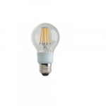 9W LED A19 Clear Filament Bulb, 3000K, Dimmable