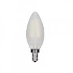 3.5W LED C11 Candelabra Bulb, 2700K, Frosted, 467 Lumens