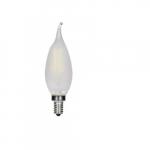 3.5W LED CA11 Candelabra Bulb, E12 Base, 2700K, Frosted
