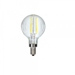 2.5W LED G16.5 Globe Bulb, Clear, Dimmable