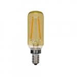 2.5W LED T6 Antique Amber Edison Bulb, E12 Base, 2200K