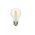 7W LED A19 Clear Filament Bulb, 2700K, Dimmable