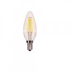 4.5W LED B10 Candelabra Base Bulb, 2700K, 90 CRI