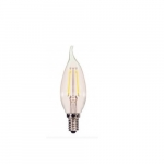 3.5W LED CA11 Candelabra Bulb, E12 Base, 3000K, Clear