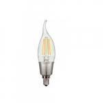5.5W LED CA11 Candelabra Bulb, E12 Base, 3000K, Clear