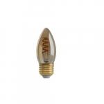 2W LED B10 Spiral Filament Antique Amber Bulb, 2200K