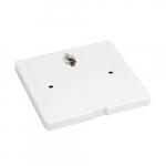 12V Offset Monopoint Adapter for LED Track Lights, White