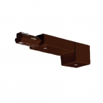 Conduit Live End for Track Lighting, Chestnut Bronze