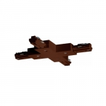 X Connector for Track Lighting, Brown