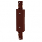 Inline Power Feed for LED Track Lights, Brown