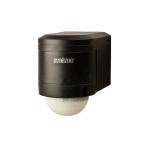 240-deg Wall Outdoor Occupancy Sensor Black