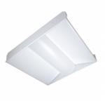 32W LED 2 x 2 Troffer Light fixture, White, 3500K
