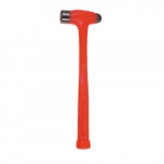 Compo-Cast Ball Pein Hammer, 24 oz Head, Orange