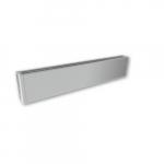 450W 4-ft Mini Architectural Baseboard, 150 Sq Ft, 1536 BTU/H, 240V, Anodized Aluminum