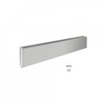 600W 4-ft Mini Architectural Baseboard, 150 Sq Ft, 2048 BTU/H, 120V, White
