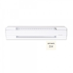 2250W 8-ft Electric Baseboard Heater, 250 Sq Ft, 7679 BTU/H, 208V, Soft White