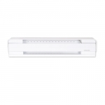 2250W 8-ft Electric Baseboard Heater, 250 Sq Ft, 7679 BTU/H, 208V, White