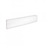1250W Bella Baseboard Heater, 250W/Sq Ft, 240V/208V, White