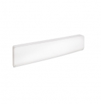 750W Bella Aluminum Baseboard Heater, 250W/Sq Ft, 120V, Soft White