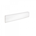 1500W Bella Baseboard Heater, 150W/Sq Ft, 480V, White