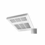 4000W Ceiling Fan Heater, 240V Control, Single, 480V, Stainless Steel
