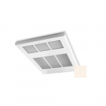6000W Ceiling Fan Heater w/ Built-in Thermostat, Double, Soft White