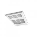8000W/6000W Ceiling Fan Heater, 24V Control, Double, White