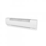 60in 1600W Baseboard Heater, High Altitude, 480V, White