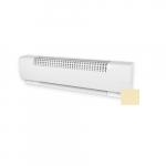 60in 1600W Baseboard Heater, 208V, Soft White