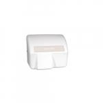 2000W Electric Hand-Dryer, Optical Sensor, 120V, White