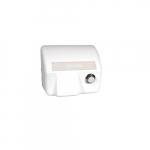 2000W Electric Hand-Dryer, Push-Button Start, 208V, White