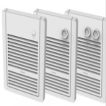2000W Sonoma Wall Heater, 208V, w/ Thermostat & Timer, No Back Box, White