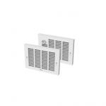 1000W Sonoma Wall Fan Heater, 208V, Built-in Thermostat, No Back Box, White
