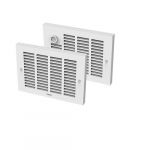 2000W Sonoma Horizon Wall Heater, 208V, Built-In Thermostat, No Back Box, White